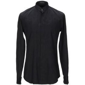 《期間限定セール開催中!》VERSACE メンズ シャツ ブラック 39 コットン 67% / シルク 33%