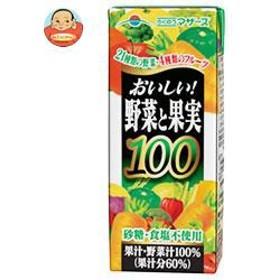 【送料無料】らくのうマザーズ おいしい野菜と果実 200ml紙パック×24本入