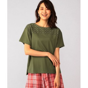 DECOY Since1981 レース切替Tシャツ(カーキ)【返品不可商品】