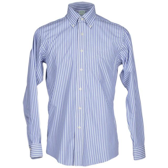 《セール開催中》BROOKS BROTHERS メンズ シャツ ダークブルー 15 コットン 100%