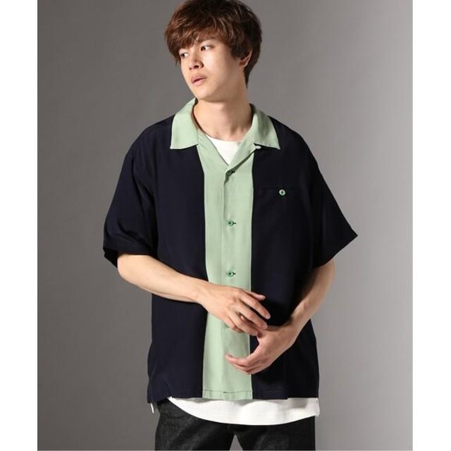 JOURNAL STANDARD STYLE EYES / スタイルアイズ : SWITCHED PATTERN オープンカラーシャツ ネイビー L