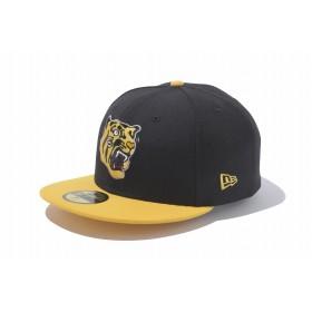 【ニューエラ公式】 ストア限定 59FIFTY 阪神タイガース 虎ロゴ ブラック × マニラ メンズ レディース 7 1/2 (59.6cm) NPB キャップ 帽子 11121919 NEW ERA