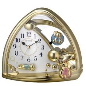 リズム RHYTHM ファンタジーランド 置き時計 4SG762SR18 ゴールド