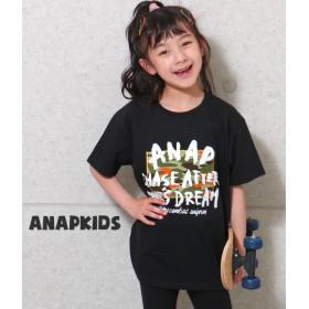 【セール開催中】ANAP KIDS(キッズ)手書きロゴ迷彩ビッグTシャツ