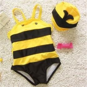 水着子供 男の子 女の子 水着 イエロー ベビー 2019 夏休み 夏 キッズ 超可愛い 砂浜 ミツバチ