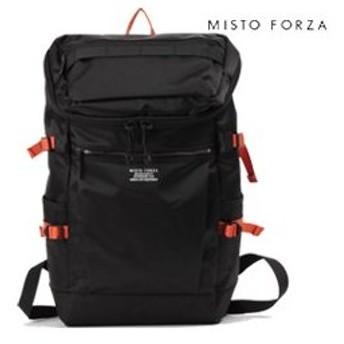 MISTO FORZA/ミストフォルツァ  ナイロンボックスリュック【ブラック/オレンジ】■