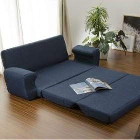 【直送】日本製 リクライニングソファーベッド