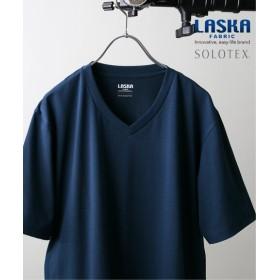 JOURNAL STANDARD 【LASKA】× 【SOLOTEX】 PLATE VネックTシャツ ネイビー S