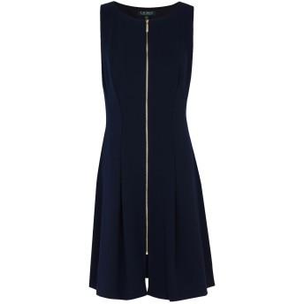 《セール開催中》LAUREN RALPH LAUREN レディース ミニワンピース&ドレス ダークブルー 4 ポリエステル 94% / ポリウレタン 6% Crepe Zip Dress