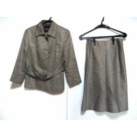 アイシービー ICB スカートスーツ サイズ11 M レディース ベージュ×ダークブラウン【中古】