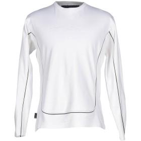 《セール開催中》LEVIATHAN メンズ スウェットシャツ ホワイト L コットン 100%