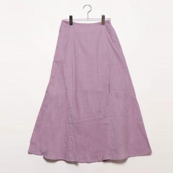スタイルブロック STYLEBLOCK スラブガーゼマーメイドスカート (パープル)