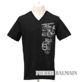 [ピエールバルマン]PIERRE BALMAIN Tシャツ(ブラック) PB-202