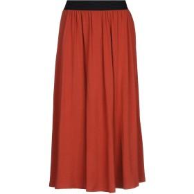 《期間限定セール開催中!》LFDL レディース 7分丈スカート 赤茶色 XS レーヨン 81% / ウール 14% / ポリウレタン 5%