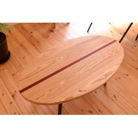 サーフボード型ローテーブル・インダストリアル・西海岸インテリア