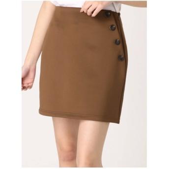EMODA デザインボタンスカート ブラウン