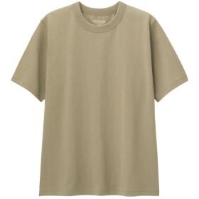 (GU)コットンクルーネックT(半袖) BEIGE XL