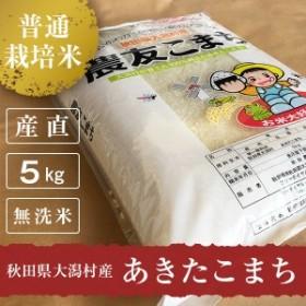 産地直送 30年産 秋田県大潟村産 あきたこまち 普通栽培米 農友こまち 5kg (無洗米)