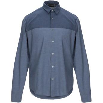 《期間限定セール開催中!》EMPORIO ARMANI メンズ デニムシャツ ブルー S コットン 100%