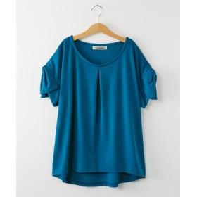 袖リボン付トップス (Tシャツ・カットソー)(レディース)T-shirts