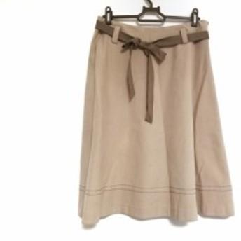 エムズグレイシー M'S GRACY スカート サイズ40 M レディース ベージュ【中古】
