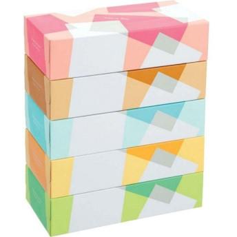 ティッシュペーパー 200組 5箱入 オリジナルティッシュ カインドアフターヌーン 1パック(5箱入) アスクル