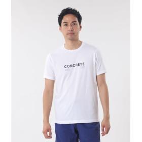 【PLST】【DAVIDE LONGARETTI】 コットン天竺クルーネックTシャツ 「CONCRETE」 Men