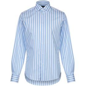 《送料無料》ZANETTI 1965 メンズ シャツ アジュールブルー 38 コットン 100%