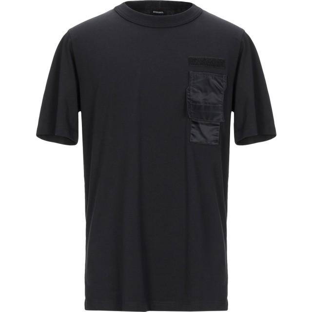 《期間限定 セール開催中》DIESEL メンズ T シャツ ブラック XS コットン 100% / ナイロン