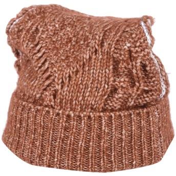 《セール開催中》MM6 MAISON MARGIELA レディース 帽子 赤茶色 S コットン 70% / アクリル 14% / 毛(アルパカ) 8% / ウール 8%