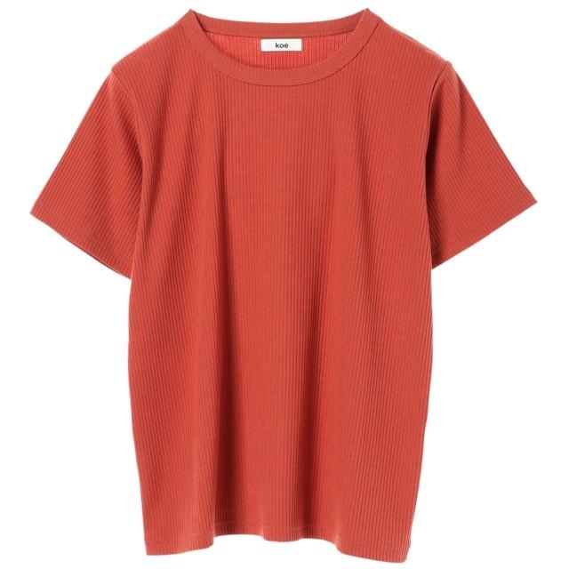 【オンワード】 koe(コエ) テレコ半袖Tシャツ Dark Orange F レディース 【送料無料】