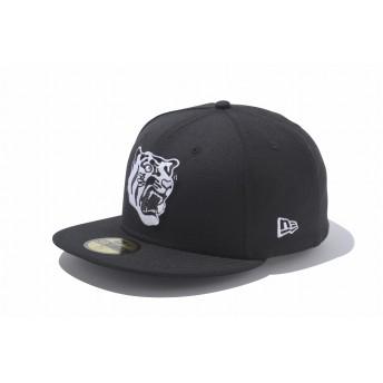 NEW ERA ニューエラ ストア限定 59FIFTY 阪神タイガース 虎ロゴ ブラック × ホワイト ベースボールキャップ キャップ 帽子 メンズ レディース 7 (55.8cm) 11151068 NEWERA