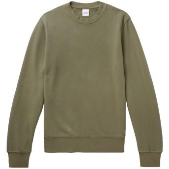 《セール開催中》ASPESI メンズ スウェットシャツ ミリタリーグリーン XS コットン 100%