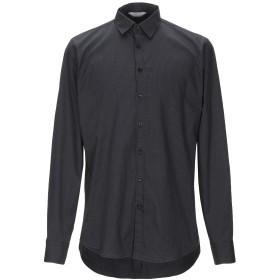 《セール開催中》SSEINSE メンズ シャツ ブラック L コットン 97% / ポリウレタン 3%