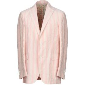 《期間限定 セール開催中》LARDINI メンズ テーラードジャケット ローズピンク 50 麻 50% / コットン 50%