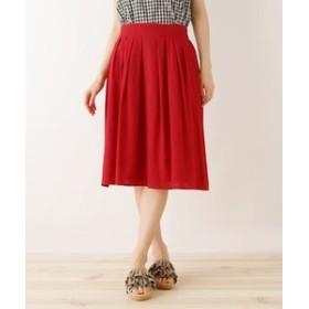 【SHOO・LA・RUE:スカート】◆スラブタックフレアスカート