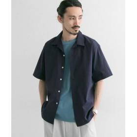【40%OFF】 アーバンリサーチ ソロテックス/リネン オープンカラーショートスリーブシャツ メンズ NAVY M 【URBAN RESEARCH】 【セール開催中】