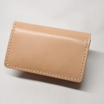 栃木レザー 手縫いカードケース(ナチュラル色)
