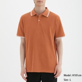 (GU)GUドライポロシャツ(半袖)(ライン)CL ORANGE XL