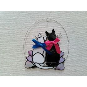 loveにゃんこ (^o^) 猫ステンドグラス