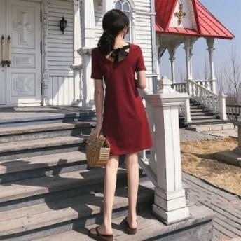 人気のフレンチレトロスカート山本初戀の妖精の夏の超妖精の甘い森の赤いドレスの女性