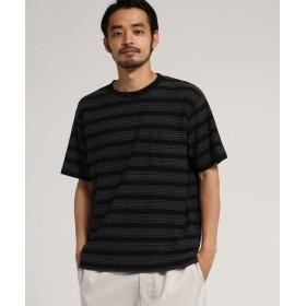 BASE CONTROL(ベースコントロール) SK 天竺 刺繍 ボーダー 半袖 Tシャツ