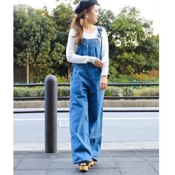 [マルイ]【セール】ワイドパンツ サロペット オーバーオール デニムパンツ/ファッションレター(Fashion Letter)