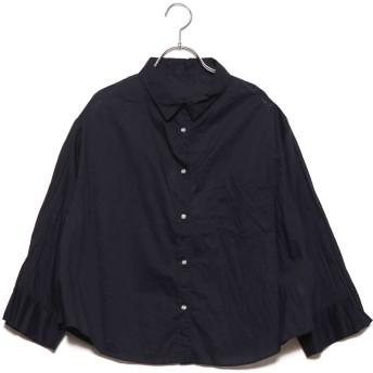 ミラオーウェン Mila Owen ワッシャープリーツセットアップシャツ (ダークネイビー)
