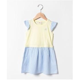 PICNIC MARKET ストライプスカート ドッキングワンピース(黄)【返品不可商品】