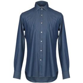 《期間限定 セール開催中》BAGUTTA メンズ デニムシャツ ブルー 44 コットン 100%