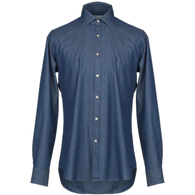 《期間限定セール開催中!》BAGUTTA メンズ デニムシャツ ブルー 44 コットン 100%