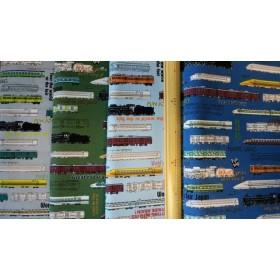 オーダーリバーシブル仕様ランチョンマット(電車、蒸気機関車、新幹線柄)