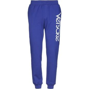 《期間限定セール開催中!》VERSACE メンズ パンツ ブルー S コットン 100%