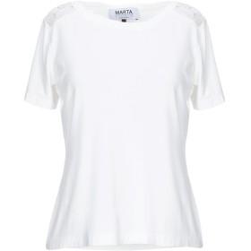 《期間限定 セール開催中》MARTA STUDIO レディース T シャツ ホワイト 42 レーヨン 94% / ポリウレタン 6%